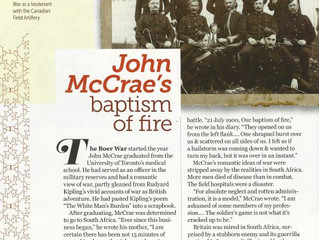 John McCrae's Baptism of Fire