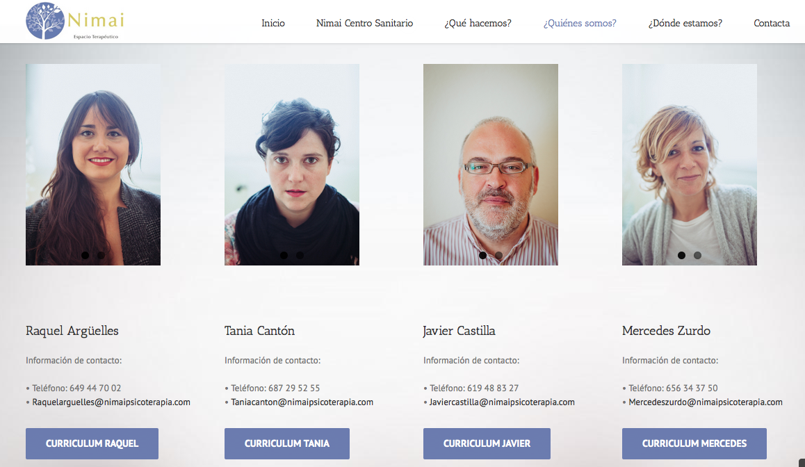 Nimai. Retratos para web