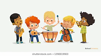 boy-orchestra-play-different-music-260nw