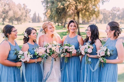 Currently obsessed with Slate Blue bride
