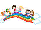 children-dancing-on-rainbow-vector-18013
