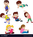 cartoon-kids-yoga-with-different-yoga-po