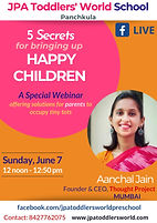A Special Webinar for parents &  childre