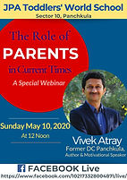 A Special Webinar - The Role of Parents