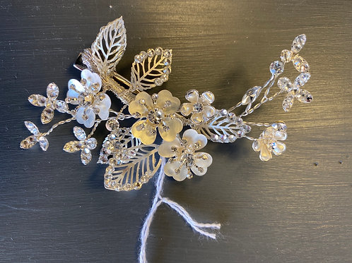 Silver metal hairpiece