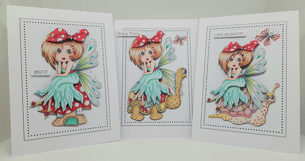 Toadstool Girls Card Collection