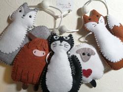 Hand sewn animal bunting