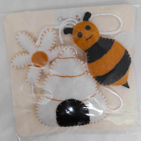Bee, flower and hive decorations