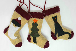 Applique stockings x3