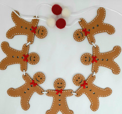 MDF gingerbread bunting