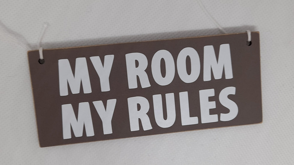 MDF 'My room' decoration