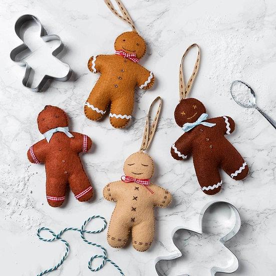 Felt Gingerbread Men Large Kit