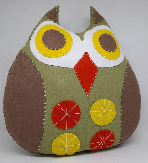 Hand sewn owl cushion