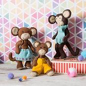 Corinne-Lapierre-Felt-Monkey-Family-Craf