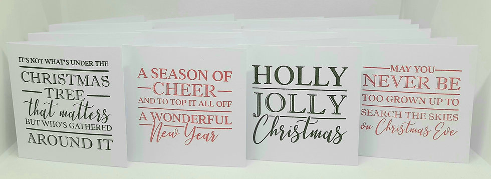 Christmas sentiment card collection