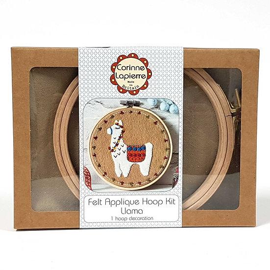 Llama Large Applique Hoop Kit