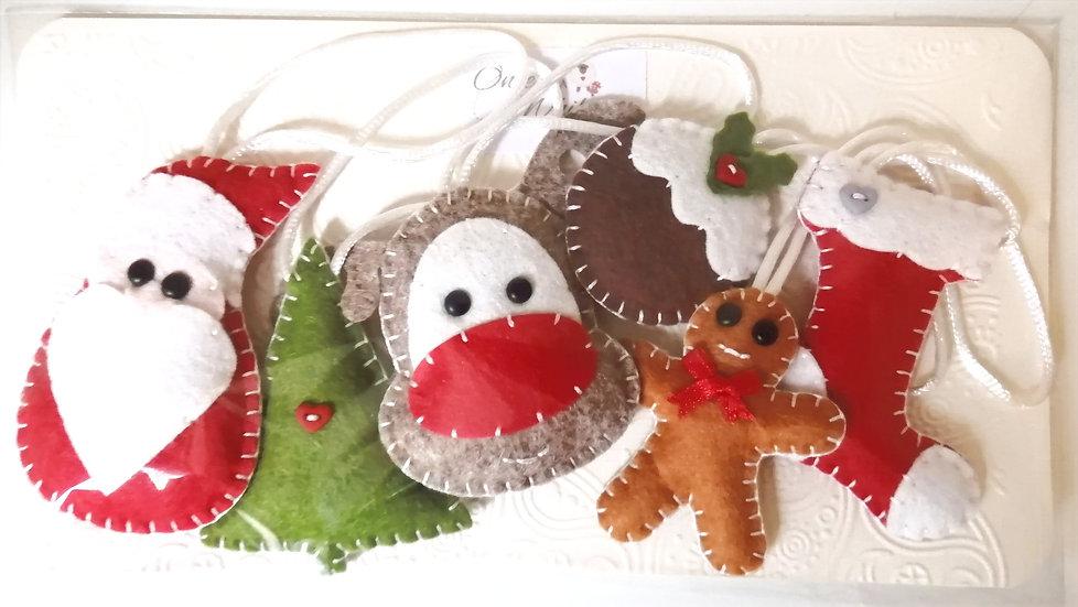 Mini festive feltie collection