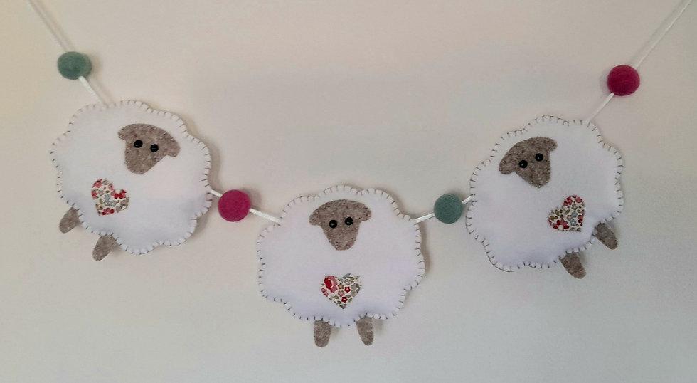 Sheep mini bunting