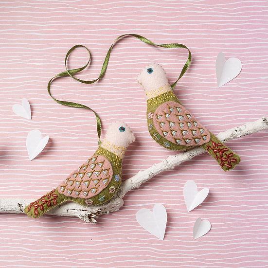 Love Birds Embroidery Kit