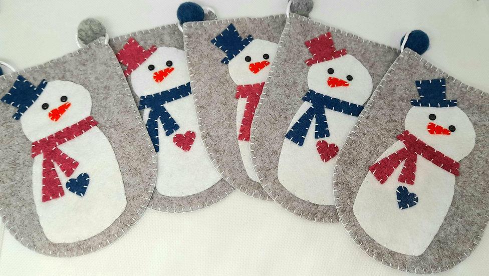 Snowman flag bunting