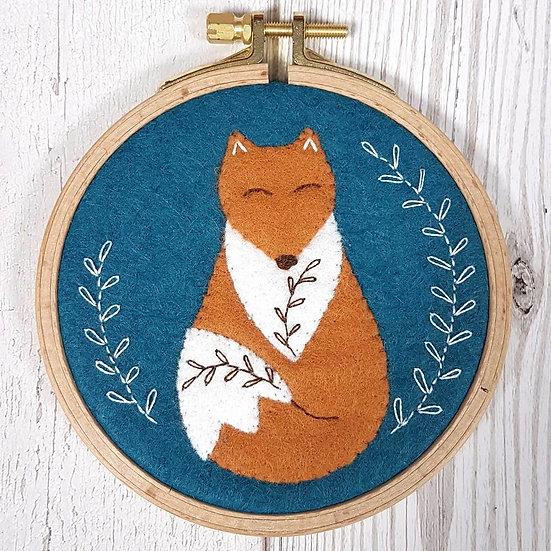 Folk Fox Mini Applique Hoop Kit