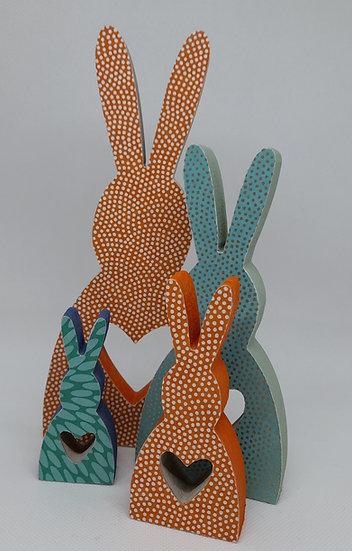 Floral heart bunnies