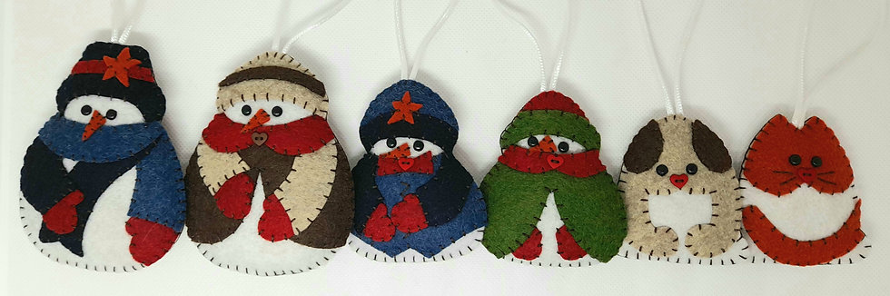 Snow folk family