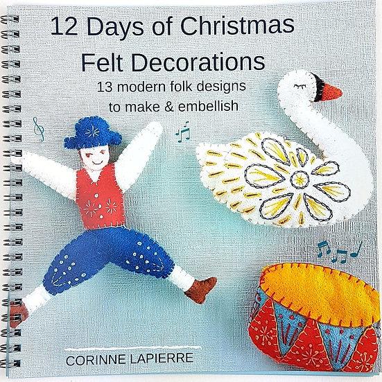 12 Days Of Christmas Felt Decorations Book