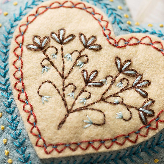 Embroidered Heart Kit