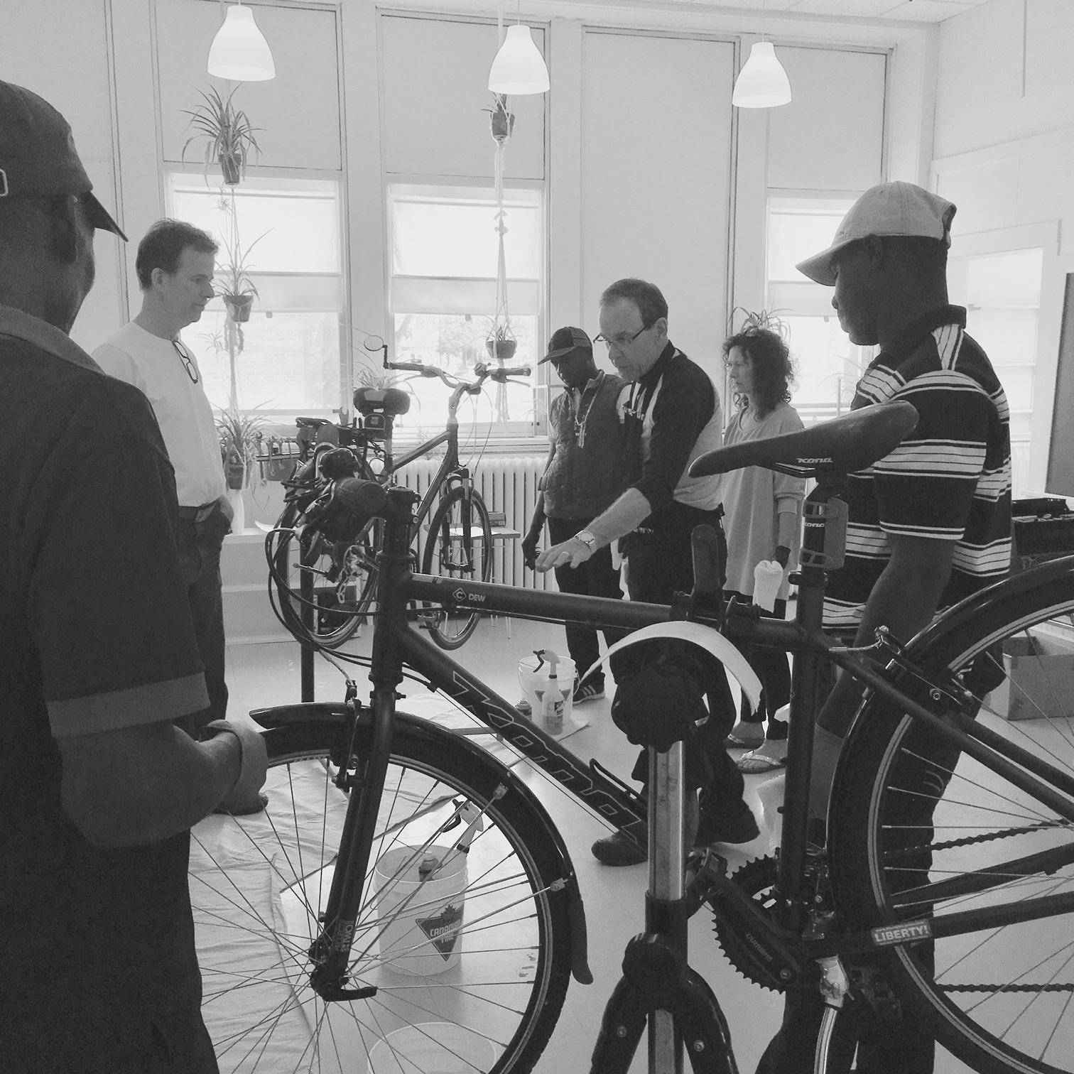 bike clinic b&w