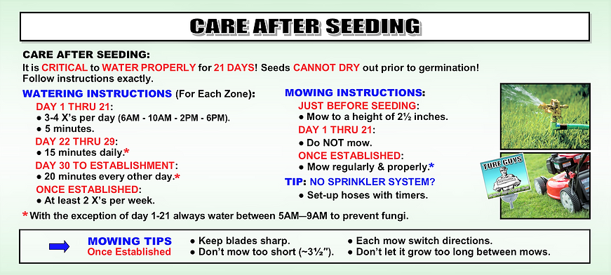 CARE AFTER SEEDING