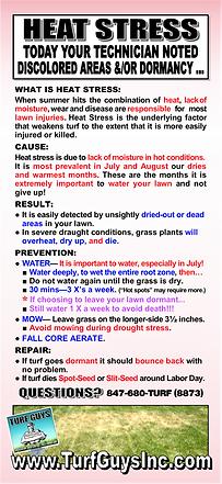 HEAT STRESS &/OR DORMANCY