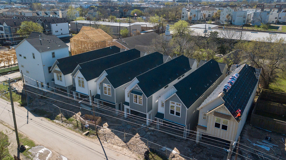 New homes near washington in houston,tx Riverway west end heights.