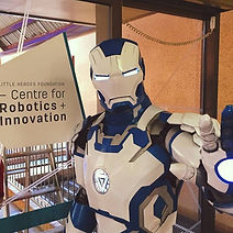 Ben Makepeace Iron Man Mk42.blue at Centre for Robotics + Innovation at Adelaide Women's and Children's Hospital