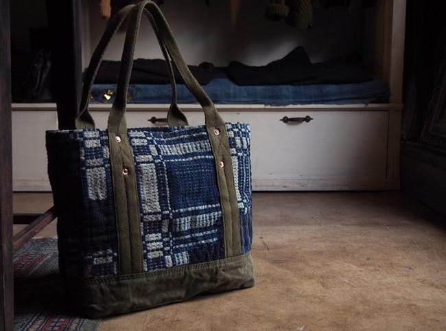 Vintage Remake Indigo Fabric Bag