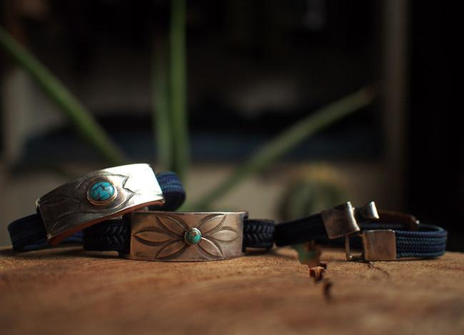 Chaff Indigo Fabrics Bracelet