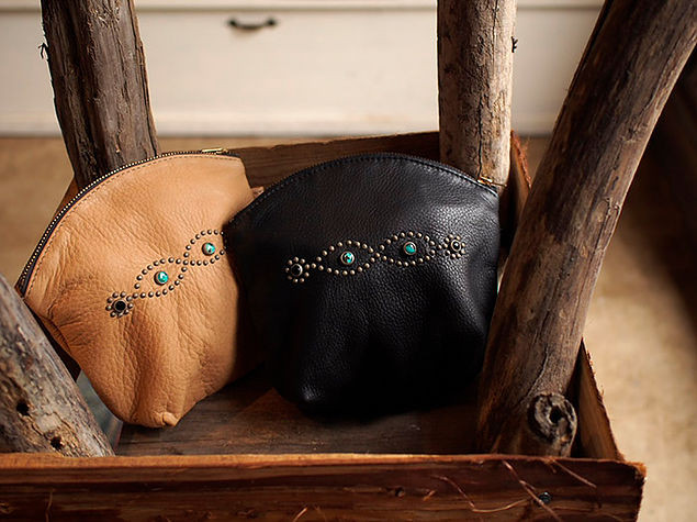 Reorder~HTC Turquoise Studs Leather Purch~