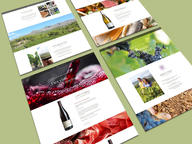 Maquettes graphiques (web design) du site internet et boutique en ligne responsive du domaine depeyr