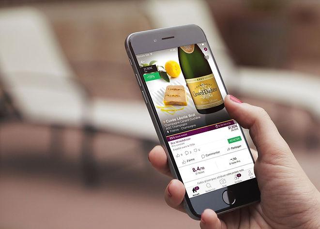Design de l'application mobile iOS et Android WineAdvisor. Reconnaissance d'étiquette de vin