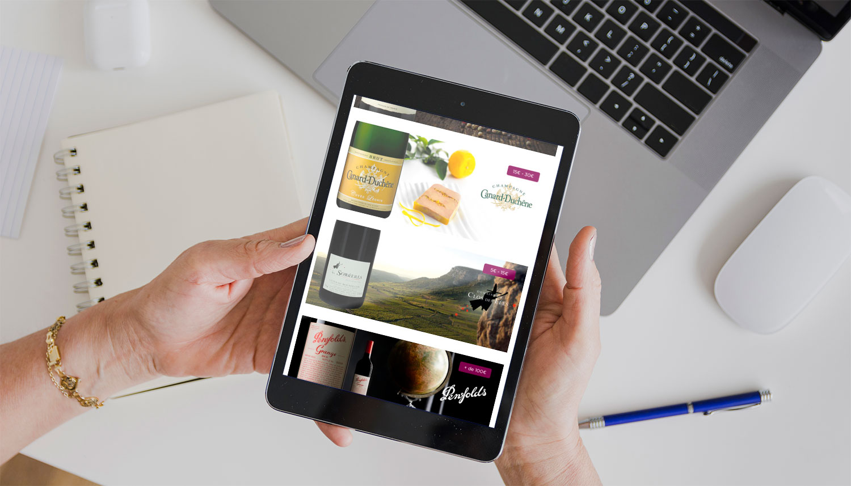 Site internet responsive de WineAdvisor