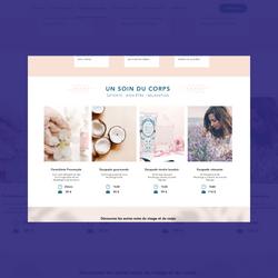 Webdesign du site vitrine de l'institut de beauté Un Rien de Folie