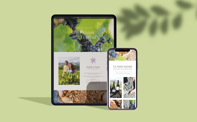 Site internet et boutique en ligne responsive du domaine depeyre