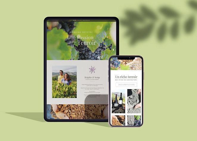 Site e.commerce responsive design du Domaine viticole Depeyre