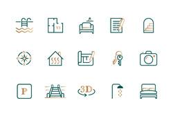 Création icons/pictos pour le site internet de Gabicy Immobilier