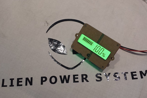 Battery indicator display %