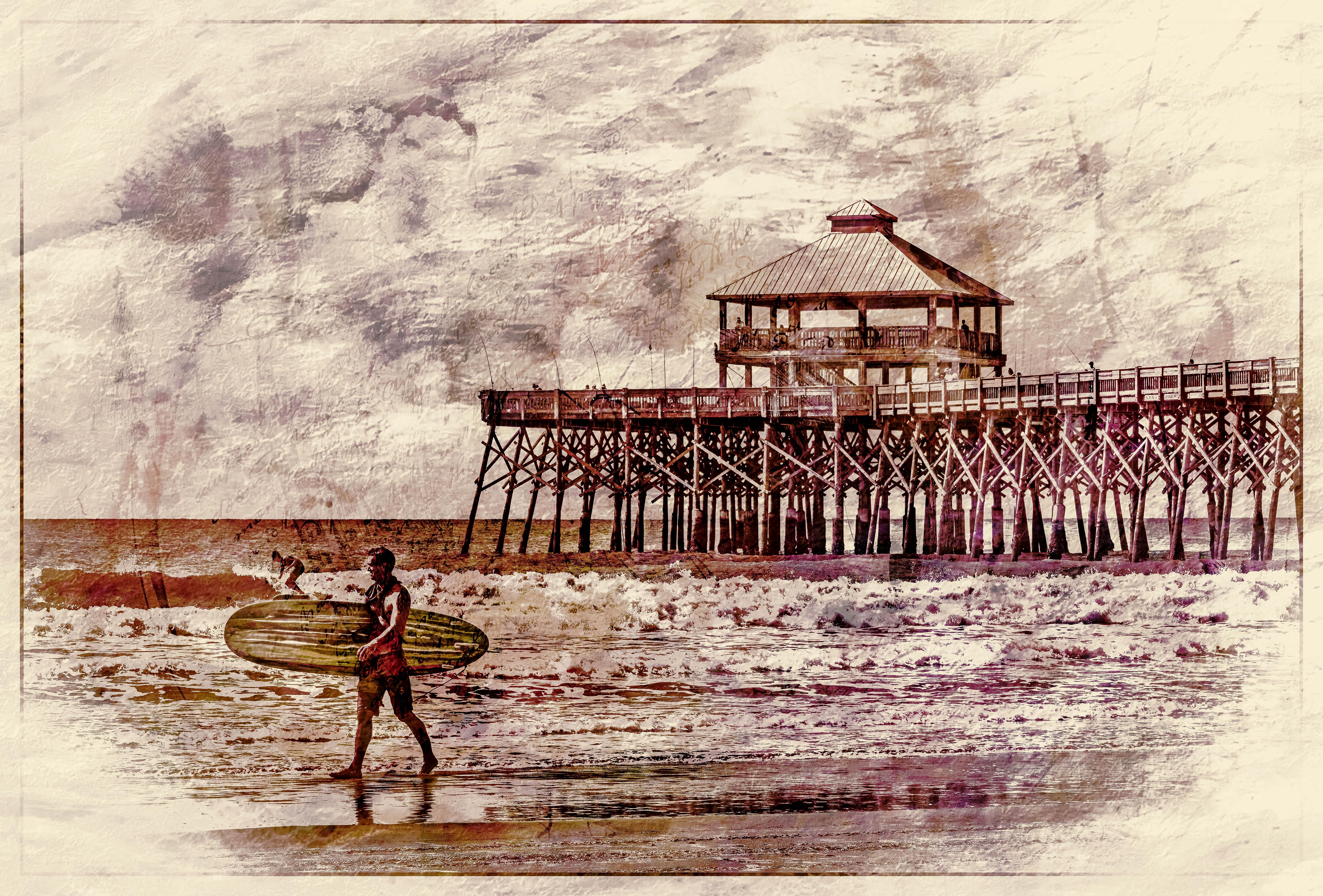 58194C - Vintage Surfer
