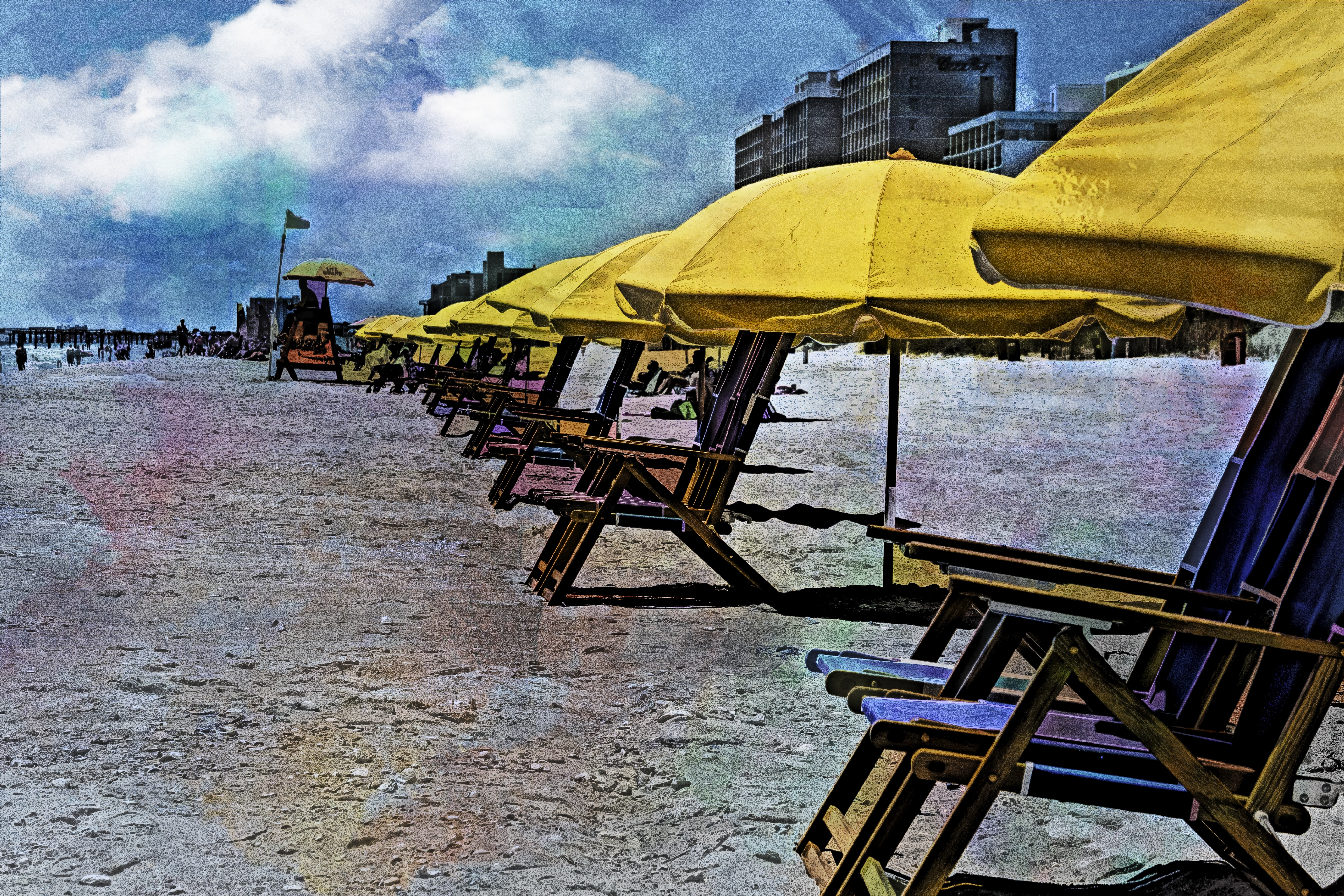 58048D - Beach Chairs Watercolor