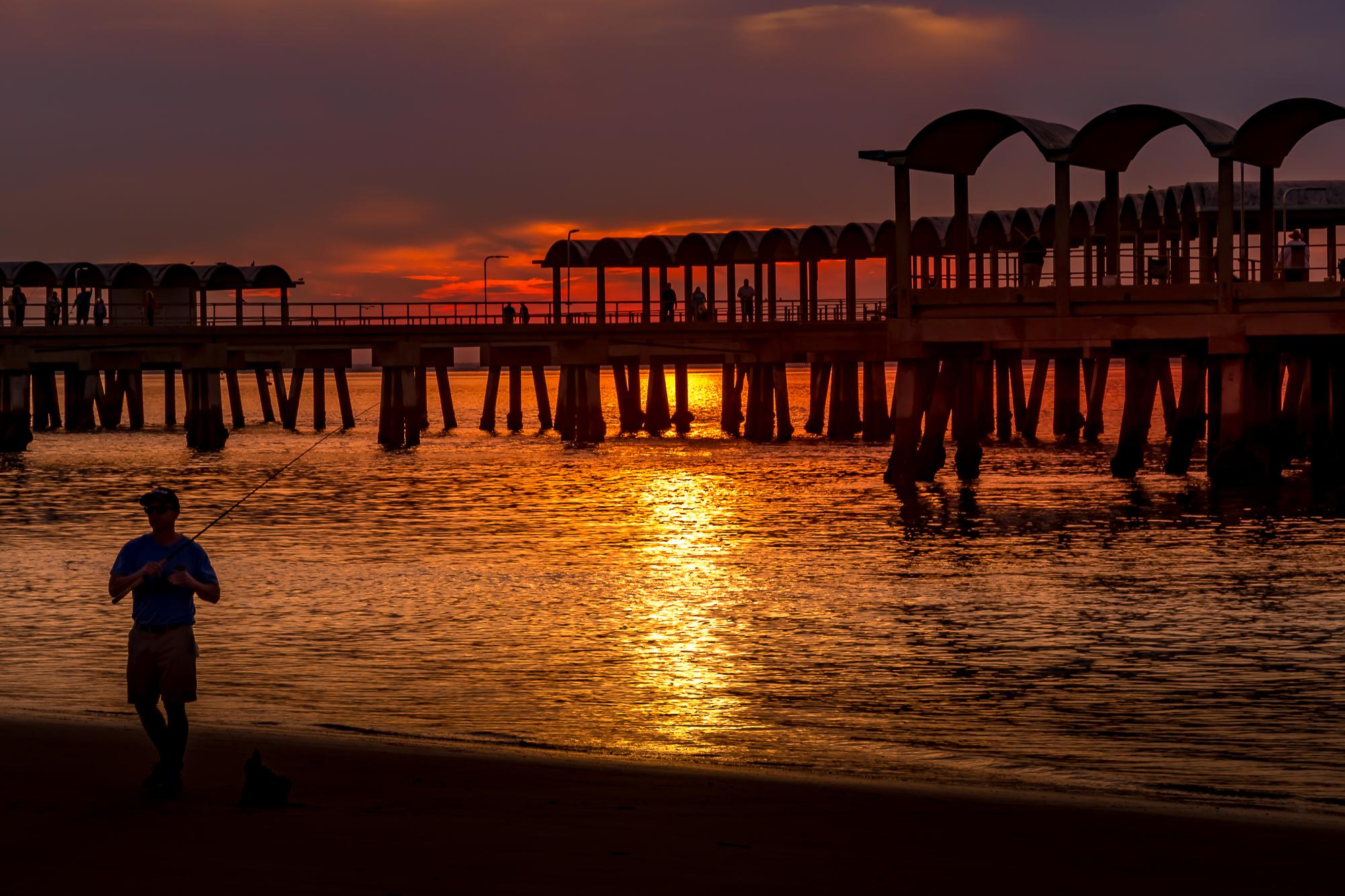 58055A - Fisherman at Sunset