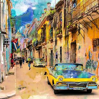 58038D - Cuba Streets Colored