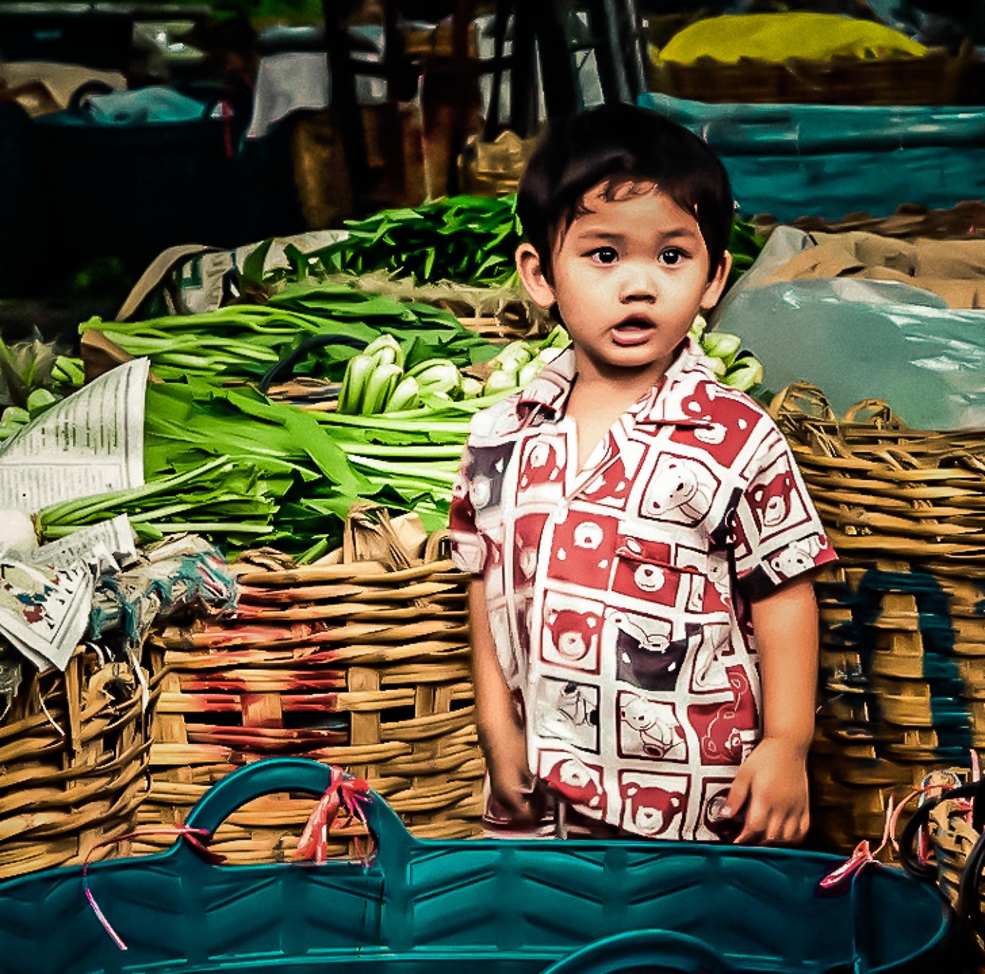 58148A - Bangkok Market Boy